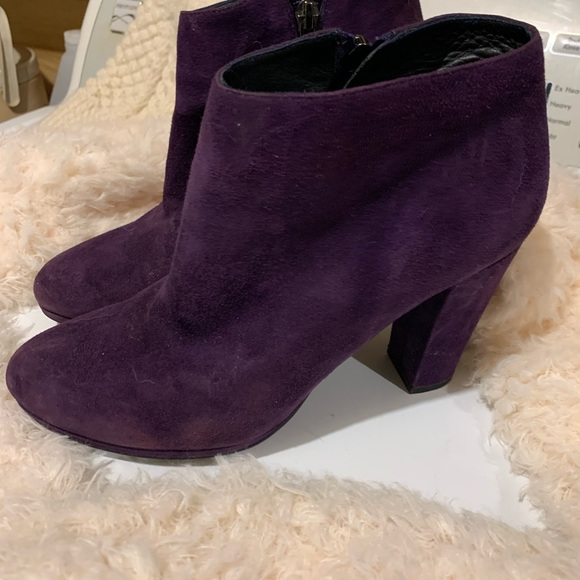 Geox purple suede boots